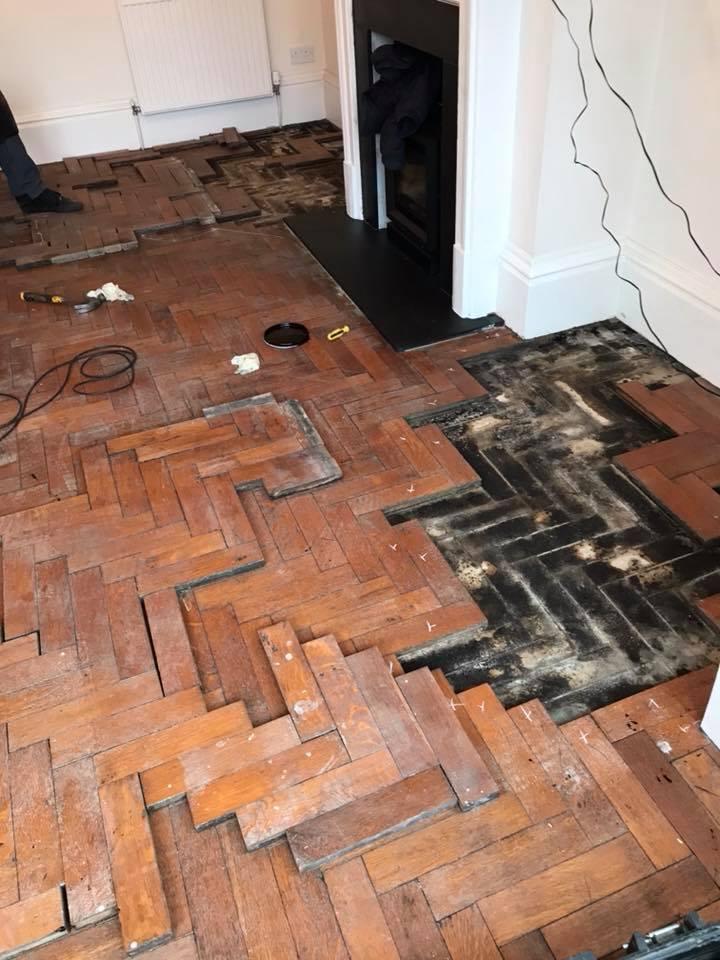 repairs on parquet floor
